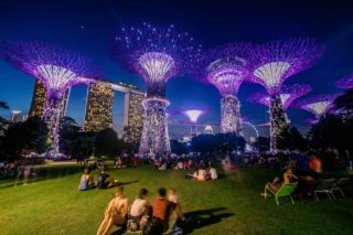 Light Show, Supertree Grove, Garden by the Bay, Singapore