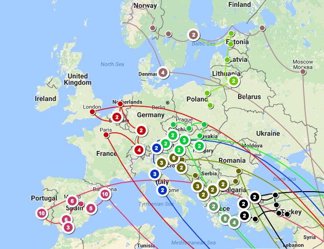 Europe Trip Summary up on trip 9