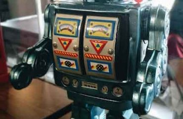 Vintage old tin toys from childhood